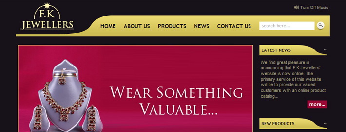 F.K. Jewellers website (CMS)